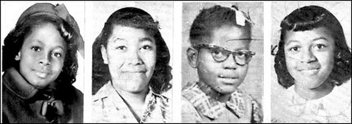 Denise McNair, 11, Carole Robertson, 14, Addie Mae Collins, 14, Cynthia Dianne Wesley, 14 were killed in a civil rights era church bombing 38 years ago in Birmingham, Alabama.