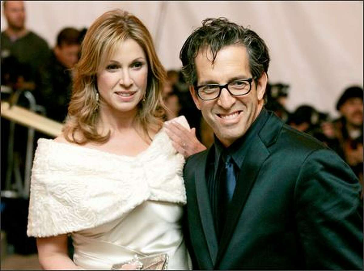 Kenneth Cole and his wife Maria arrive at the Costume Institute Gala held at the Metropolitan Museum of Art in New York. (AP Photo/Stuart Ramson)