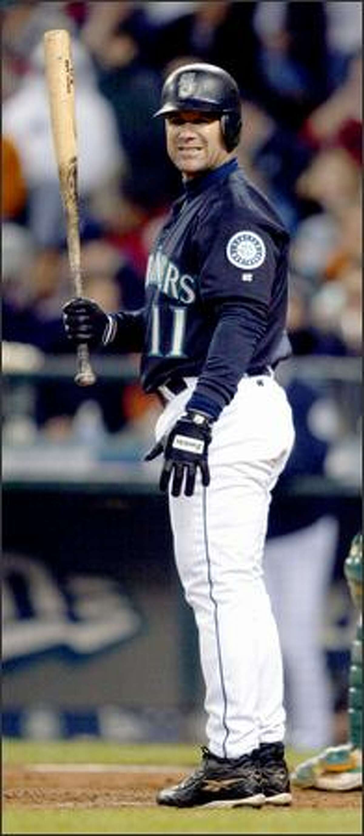 Edgar Martinez, Seattle's 40-year-old designated hitter who has a career batting average of .314, is hitting .275.