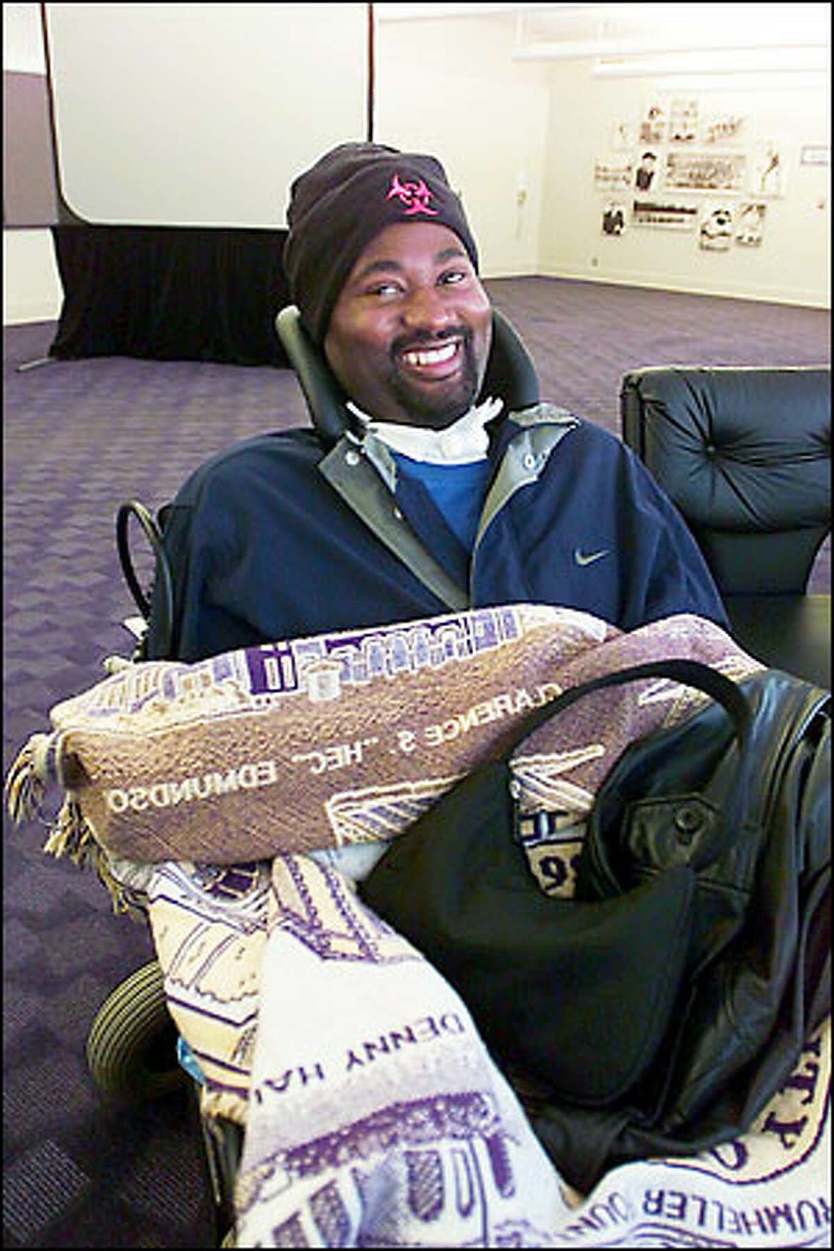 Curtis Williams, who died yesterday, two days after his 24th birthday, was at Husky Stadium two weeks ago to watch the UW spring game.