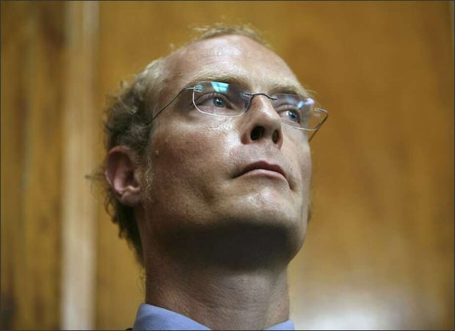 Kenya's most famous white settler, Tom Cholmondeley, listens during the proceedings of his case at the High Court in Nairobi. Cholmondeley, son of Lord Delamere, was acquitted of murdering a black poacher but found guilty of manslaughter in a case highlighting the east African nation's delicate colonial legacy. REUTERS/Antony Njuguna Photo: Reuters / Reuters