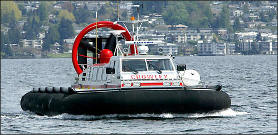 The Hovercraft, owned by Crowley Maritime Corp., will be used in Alaska to take crews and supplies to an offshore oil-production site. Photo: Karen Ducey, Seattle Post-Intelligencer / Seattle Post-Intelligencer
