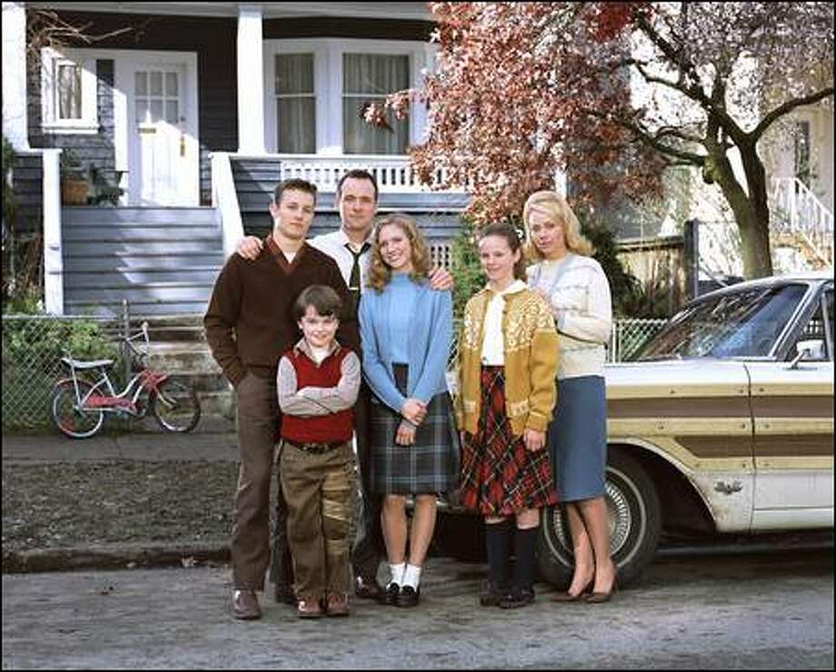 "Pictured: (l-r) Will Estes as JJ Pryor, Ethan Dampf as Will Pryor, Tom Verica as Jim Pryor, Brittany Snow as Meg Pryor, Sarah Ramos as Patty Pryor and Gail O'Grady as Helen Pryor in ""American Dreams."" Photo: NBC / NBC"