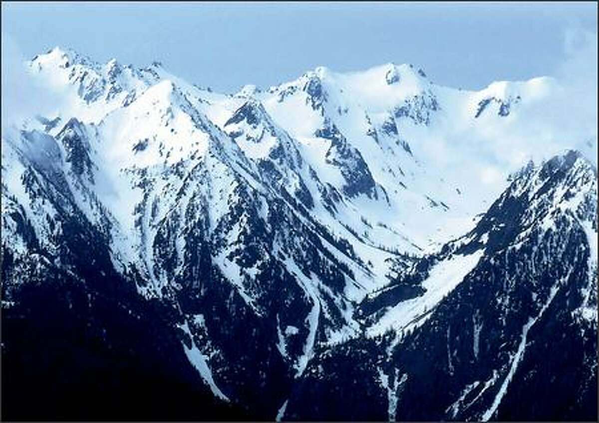 It's still winter in the Bailey Range, which comes into glorious view at Hurricane Ridge in Olympic National Park.