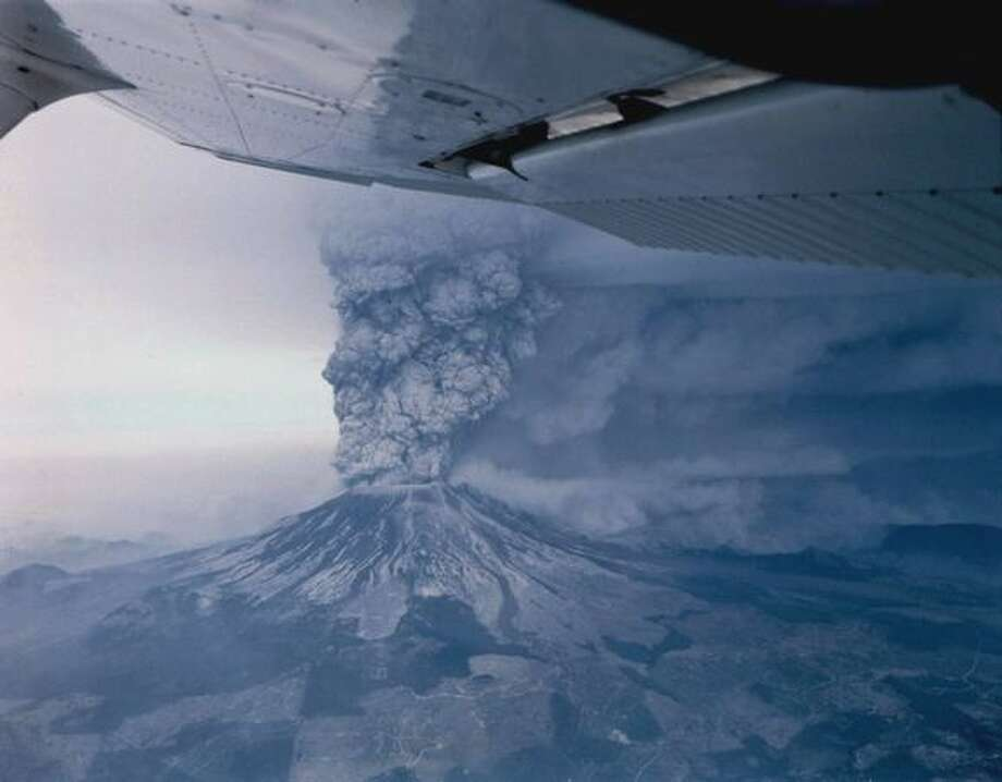 Mount St. Helens erupts on May 18, 1980. Photo: Grant M. Haller, Seattle Post-Intelligencer / Seattle Post-Intelligencer
