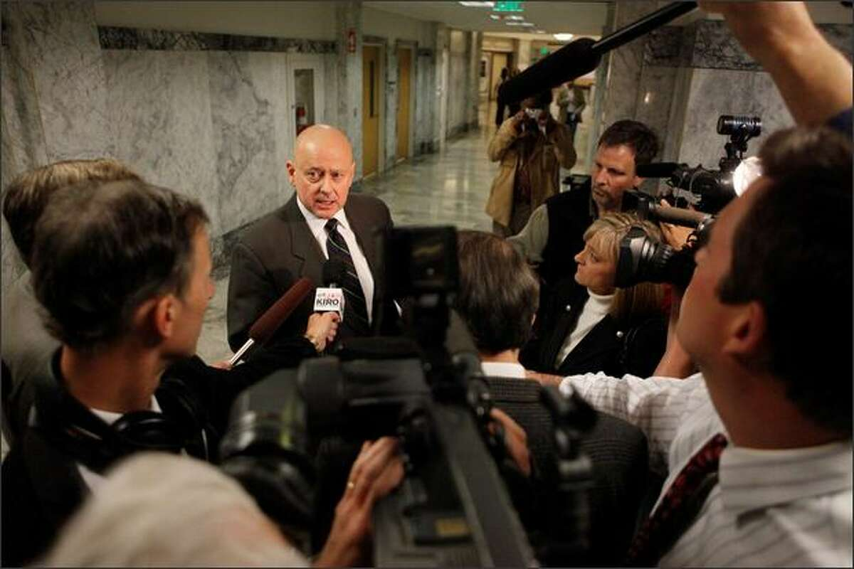 Scott Noble's attorney, John Wolfe, discusses Scott Noble's case after the guilty plea was entered.