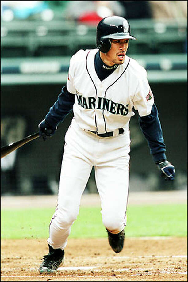 With more than one-quarter of the season complete, the free-swinging Ichiro Suzuki is on pace for 753 at-bats and 275 hits, both of which would shatter major league records. Ichiro has walked only five times in 200 at-bats. Photo: Paul Kitagaki Jr., Seattle Post-Intelligencer / Seattle Post-Intelligencer