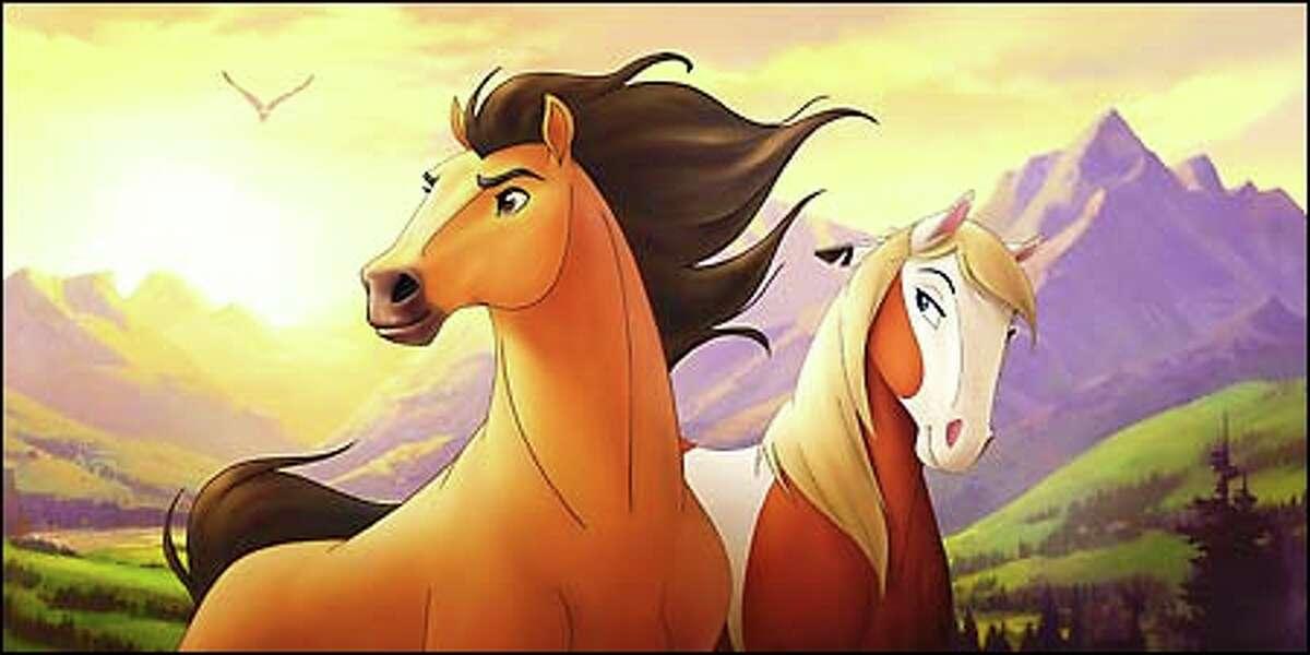 Spirit and his friend Rain. (DreamWorks)