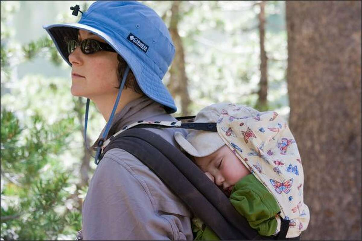 Rachel Konrad's nearly 2-year old son, Levi, takes a nap while Mom hikes in Yosemite National Park.