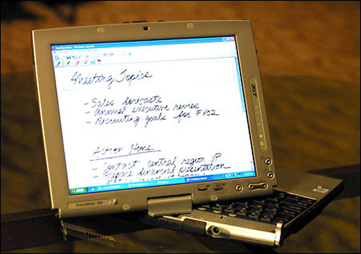 Microsoft's Tablet PC, a fully equipped personal computer the shape of a letter-size pad, will cost $1,600 to $2,200. A test of its claim to convert handwriting into text produced some interesting results.