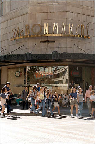 The Bon Marche will be renamed The Bon-Macy's in August and gain more marketing muscle, analysts say. Photo: P-I File / P-I File