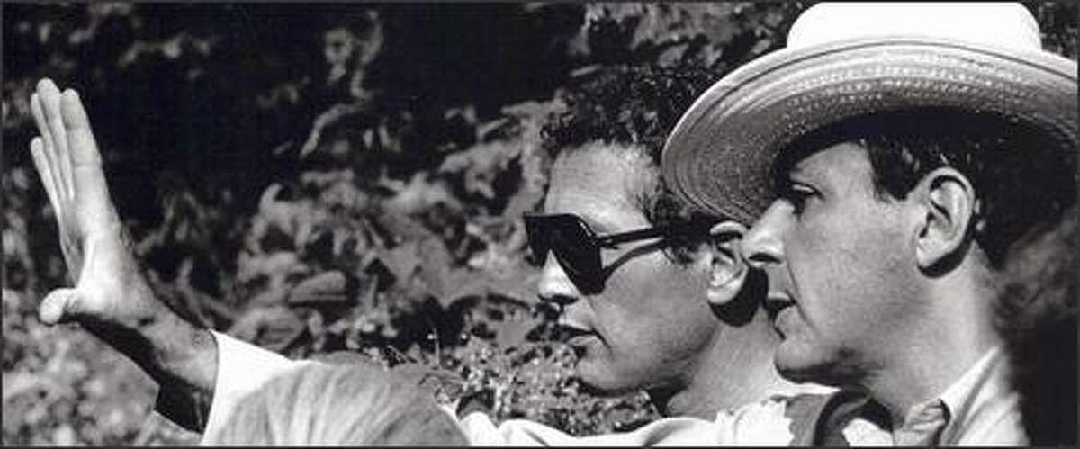 Screenwriter Stewart Stern, right, working with Paul Newman, is best known for his James Dean vehicle