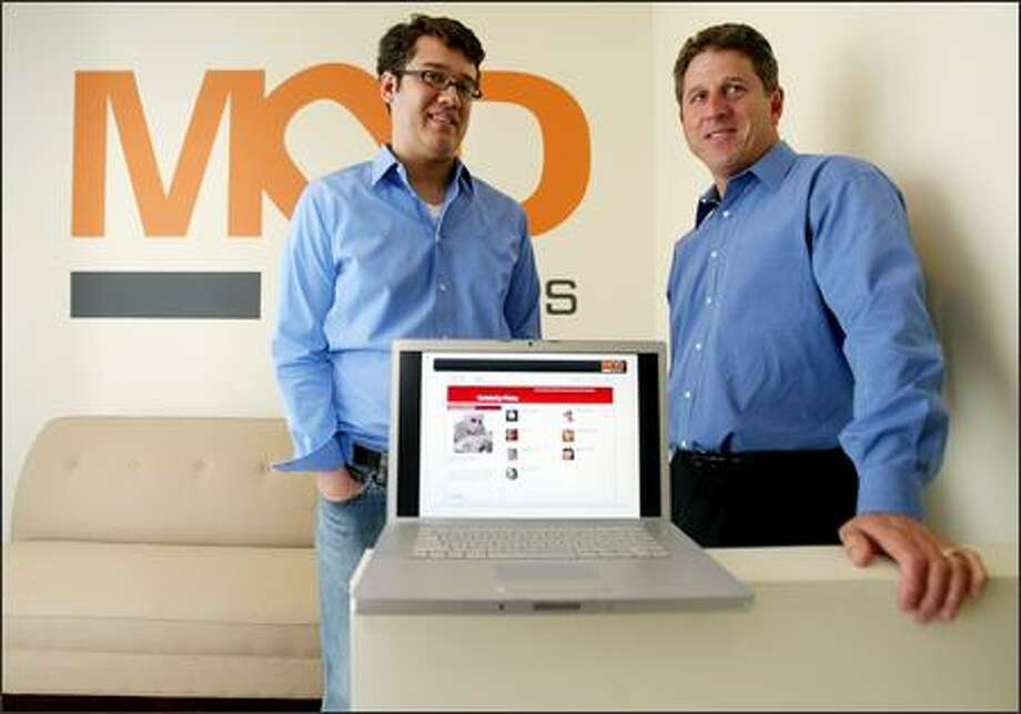 Chief Executive Mark Phillips, left, co-founded MOD Systems last year with former Microsoft executive Anthony Bay, who's now MOD's chairman. Photo: Paul Joseph Brown, Seattle Post-Intelligencer / Seattle Post-Intelligencer