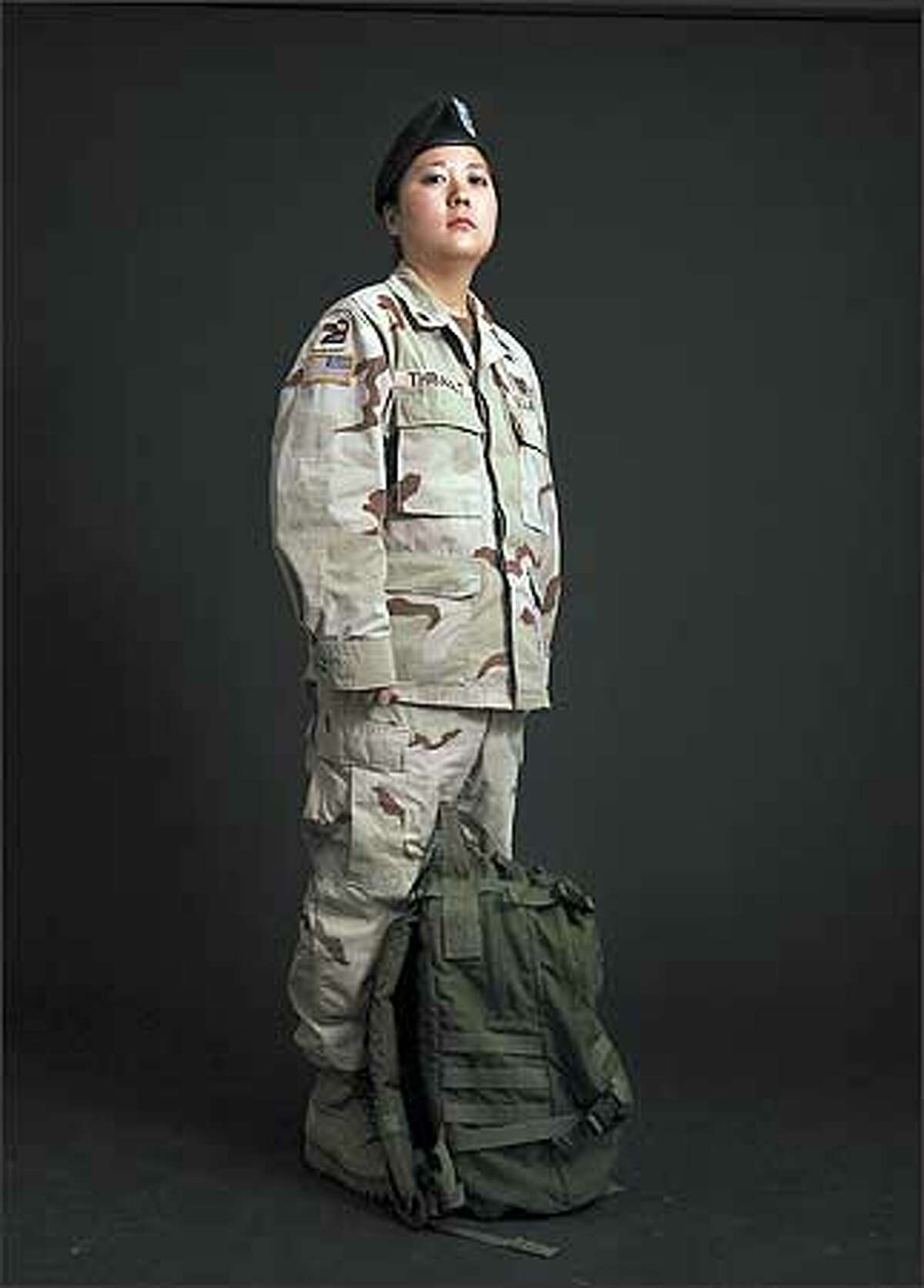 Spc. Heather Thibault spent 11 months in Iraq as a medic with the Washington National Guard.