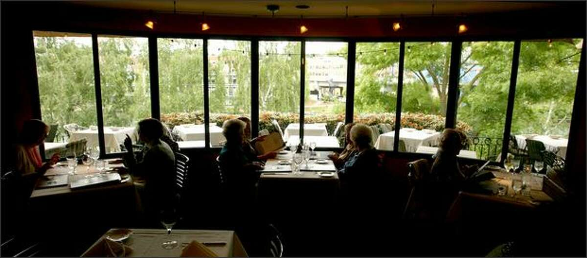 In addition to the main dining room, Ponti offers dining on a gorgeous patio and private rooms.