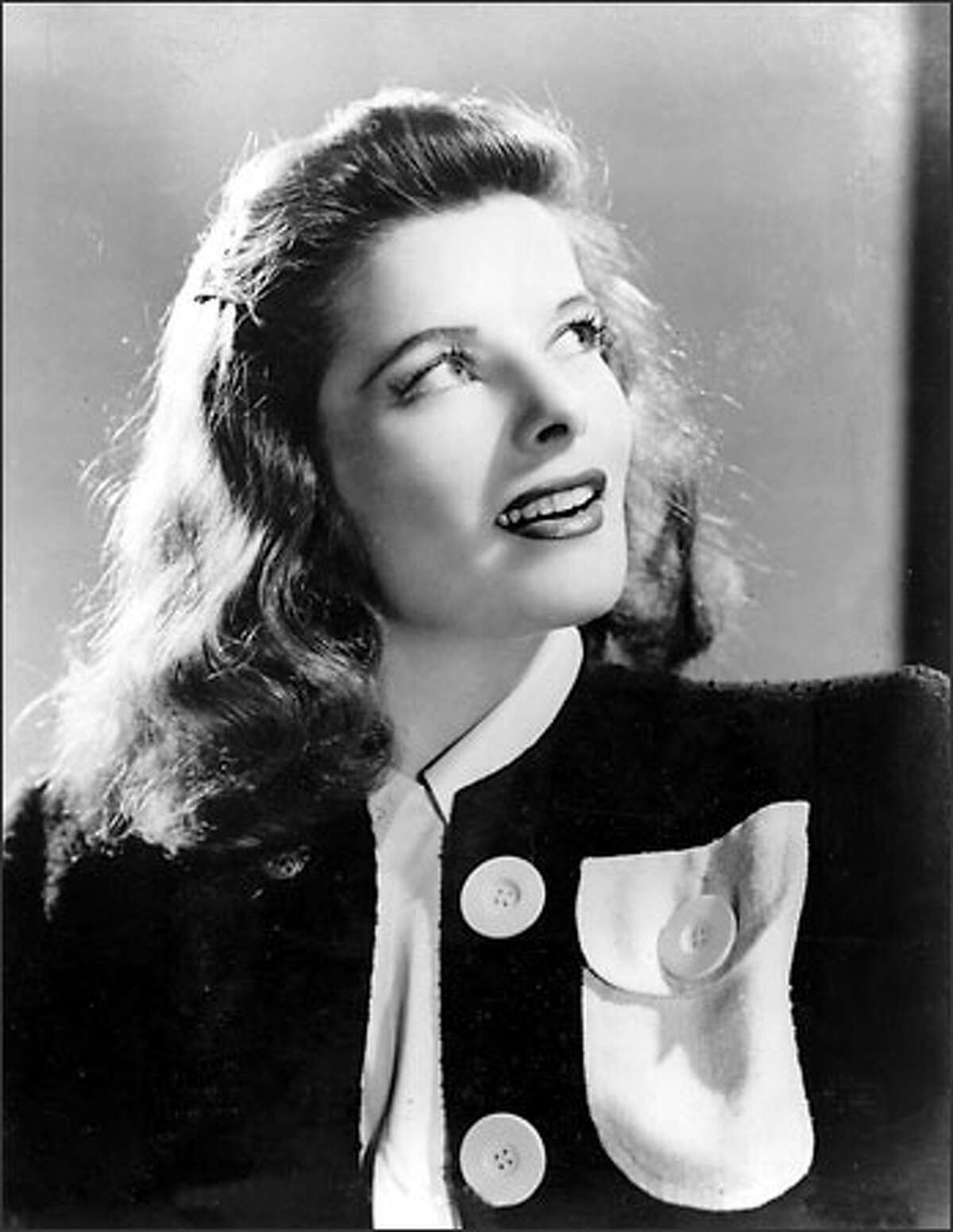 Actress Katharine Hepburn is shown in 1941. Hepburn, an icon of feminist strength and spirit, brought a chiseled beauty and patrician bearing to such films as