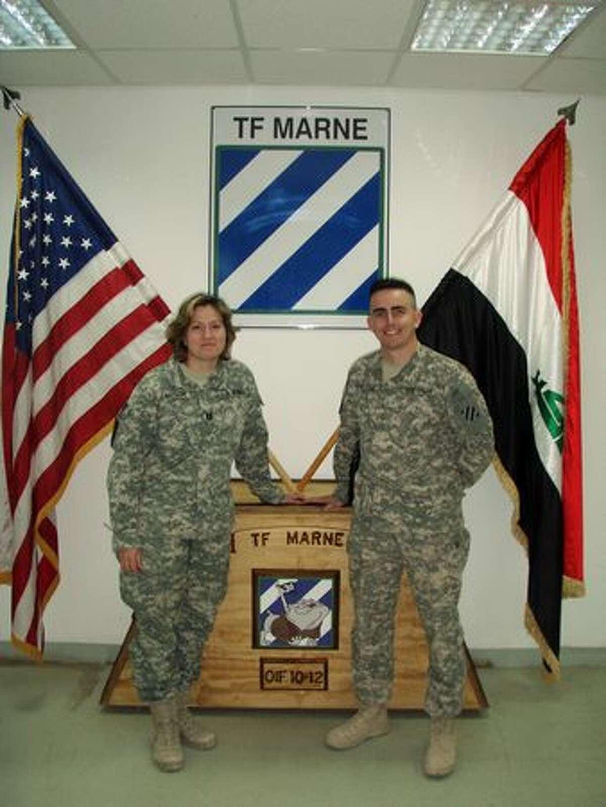 Captain Brandy Fargon and Major Patrick Malone.