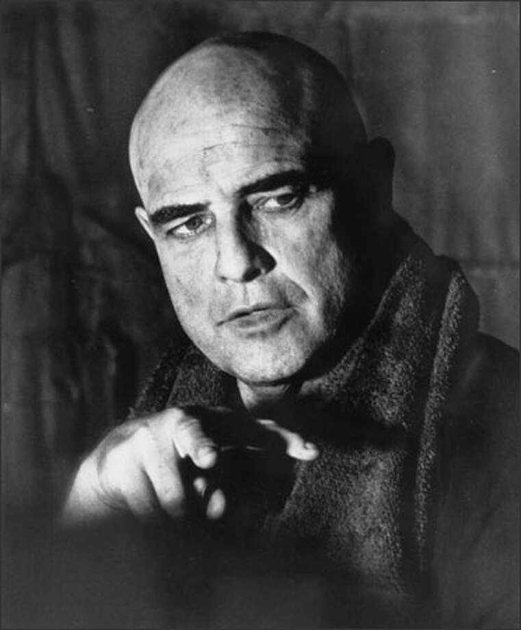 "Marlon Brando brought his powerful brand of Method acting to the role of the seemingly mad Col. Walter E. Kurtz in ""Apocalypse Now"" in 1979. (UNITED ARTISTS)"