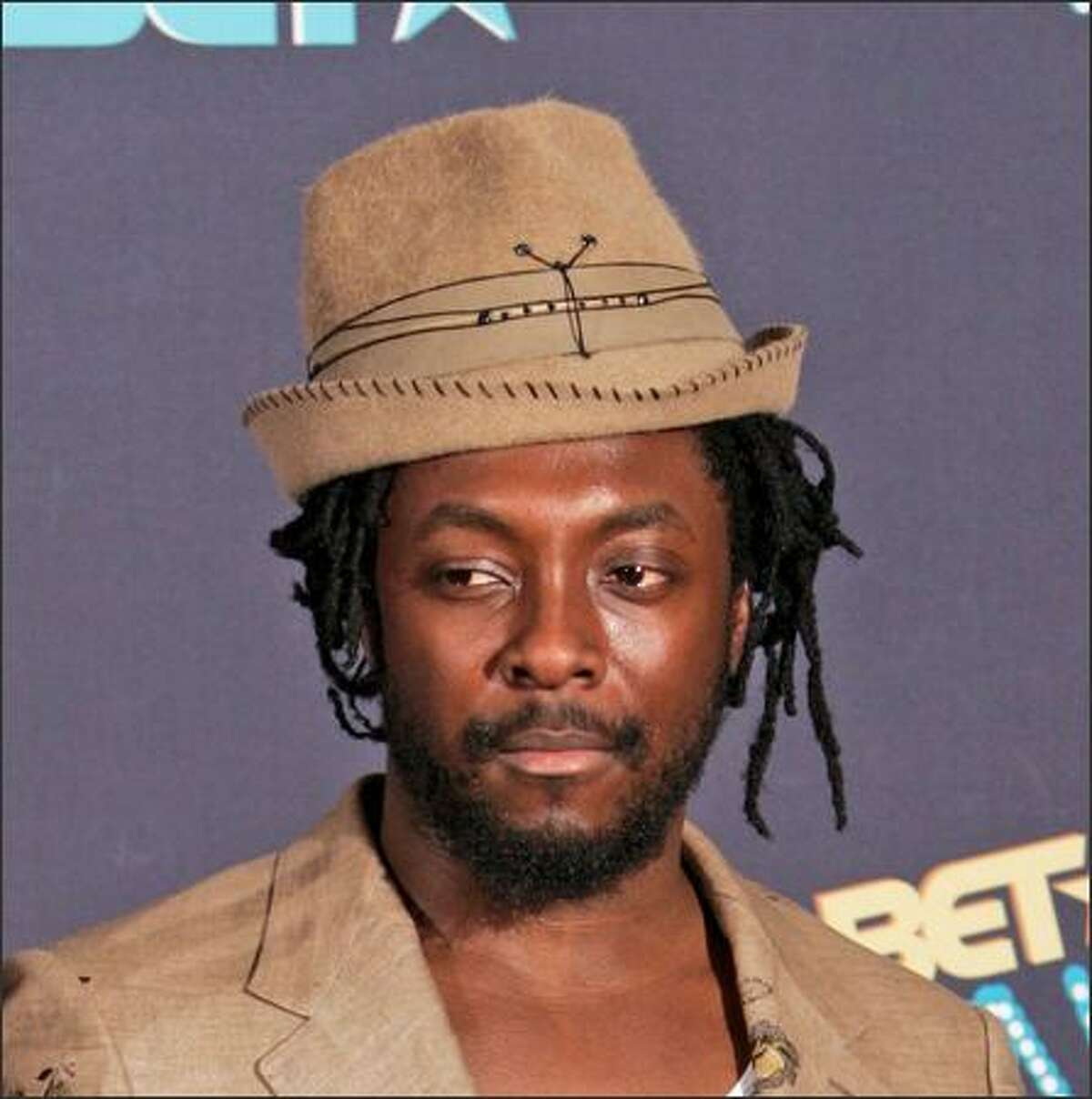 """Say it isn't so: Black Eyed Peas' charming lead singer Will.i.am (William Adams) is being investigated by Berlin police after a brawl involving """"serious bodily harm"""" to a club doorman, says The Associated Press. He's shown here last week at the sixth annual BET Awards in Los Angeles."""
