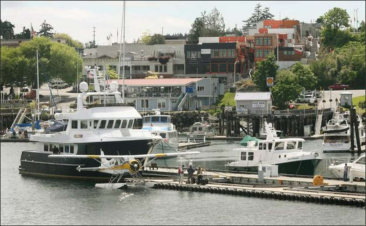 Friday Harbor on San Juan Island is a bustling port during vacation season. The Victoria Clipper operates daily service from downtown Seattle to Friday Harbor during the summer months.