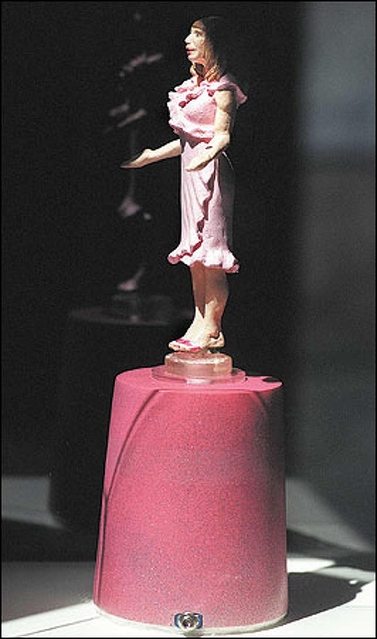 """Action Figure in Pink"" by Seattle artist Nicola Vruwink"