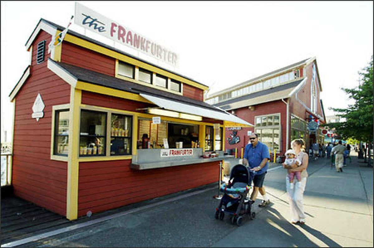 For a winning wiener, restaurant critic Penelope Corcoran says stop at The Frankfurter at 1023 Alaskan Way, Pier 54.