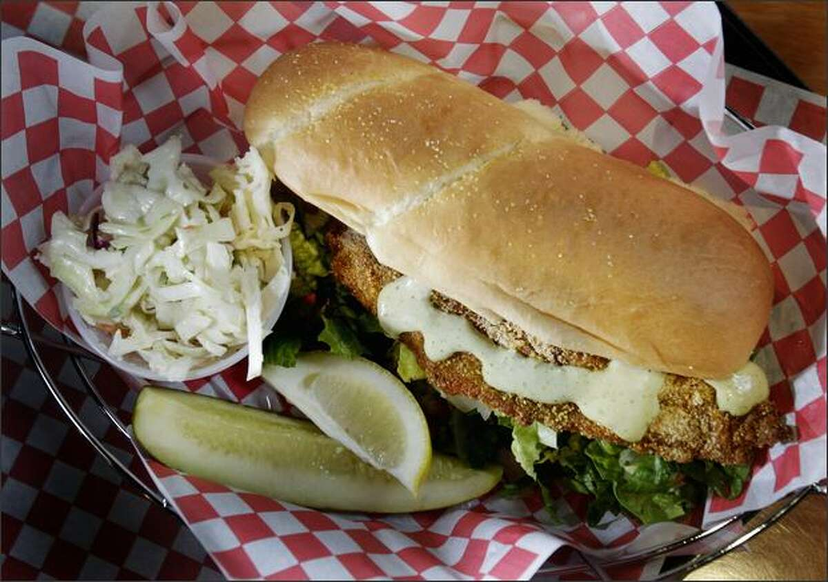 If the barbecue is too messy, Frontier Cafe's catfish po-boy is also outstanding, blackened with an assertively seasoned crunchy coating and served with a spicy smoked serrano aioli.