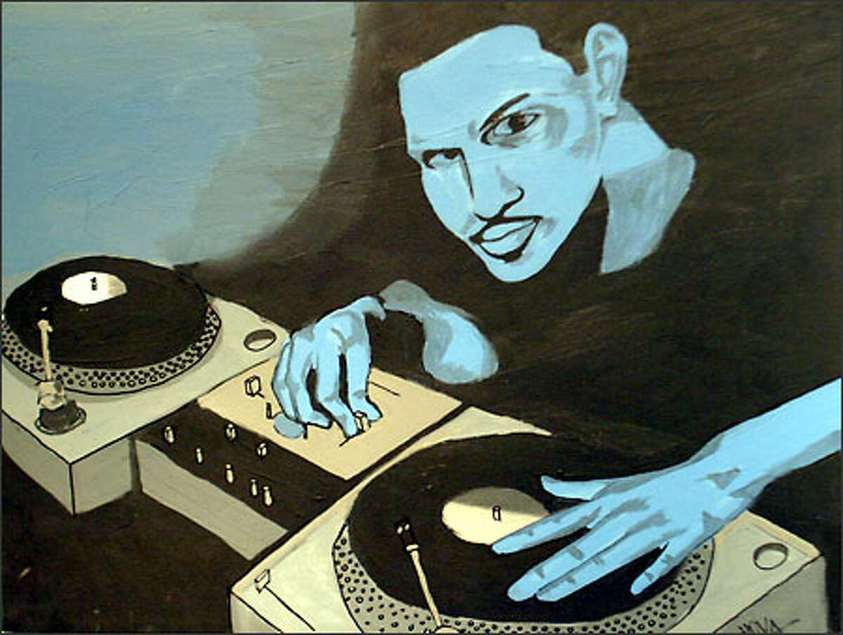 """""""DJ,"""" by Hoven Vida, will be on display in """"It's Like That: Asian Pacific Americans and Seattle's Hip Hop Scene."""""""