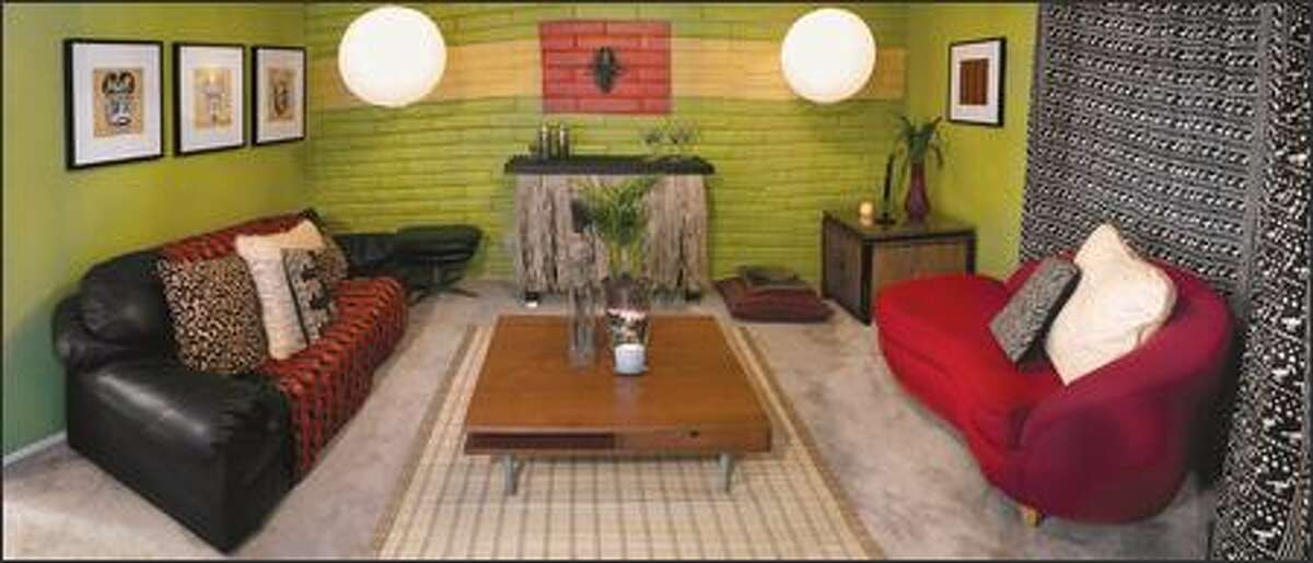 Mood lighting, a bar and an African theme gave the room a warm and lively feel -- just right for a party spot.