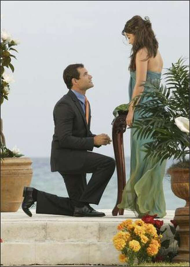 "Jason Mesnick  of Kirkland proposes to DeAnna Pappas on ABC's ""The Bachelorette"" on Monday, but she told him she was in love with the show's other finalist. Photo: ABC / ABC"