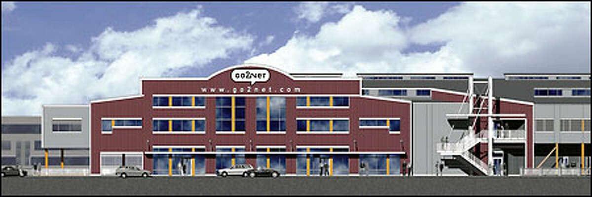 This drawing shows the remodeled Pier 70 before Go2Net moved in. InfoSpace acquired the company a year ago and is consolidating in Bellevue.