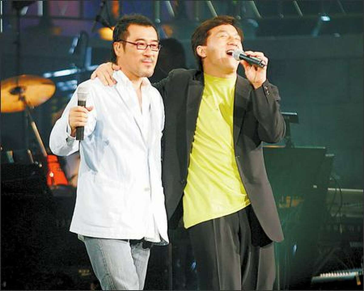 Maybe he should stick to singing in the shower. For sure he should cut back on the booze. Beloved comic/action star Jackie Chan made a fool of himself Monday night in Hong Kong, disrupting a concert by Jonathan Lee and exchanging insults with the audience. He said he was drunk. Duh.
