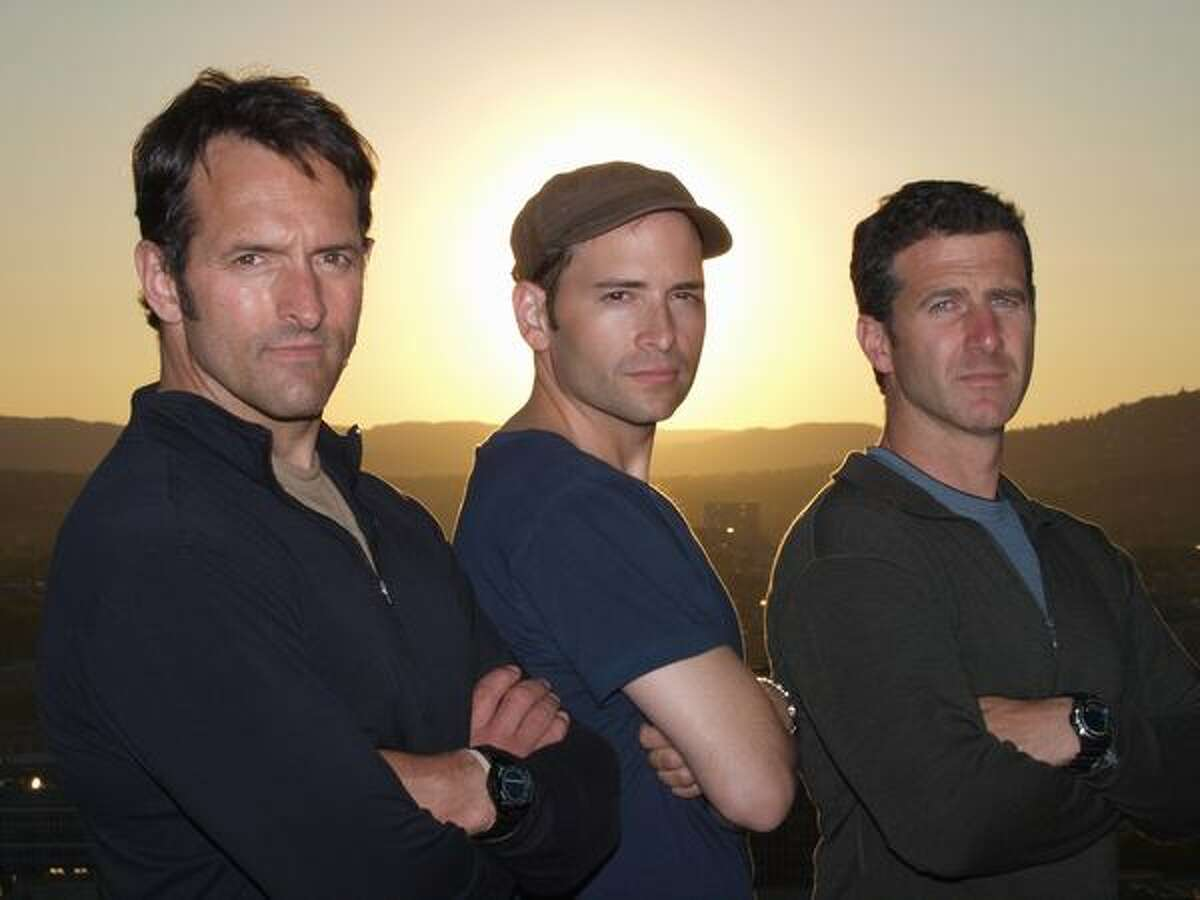 In this image released by NBC, reporters, from left, Roger Carstens, Adam Ciralsky and Scott Tyler from NBC's