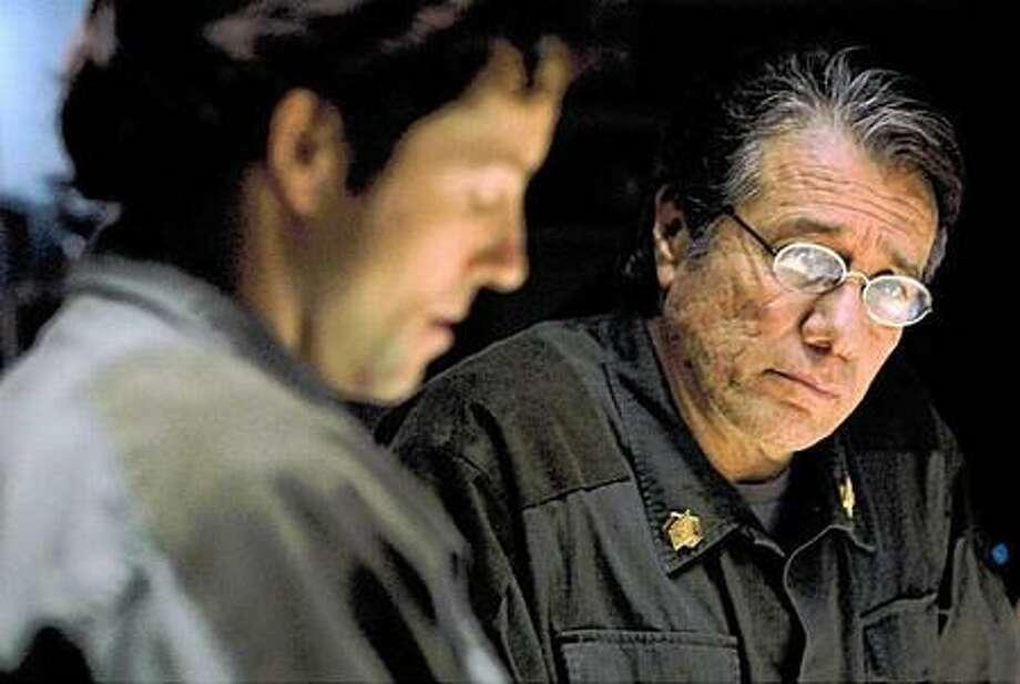 """Battlestar Galactica,"" starring Jamie Bamber (left) and Edward James Olmos, deserves some Emmy recognition at long last."