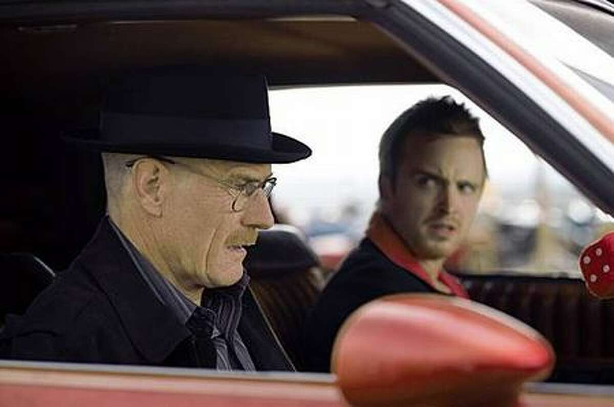 Walt White (Bryan Cranston) and Jesse Pinkman (Aaron Paul) in AMC's