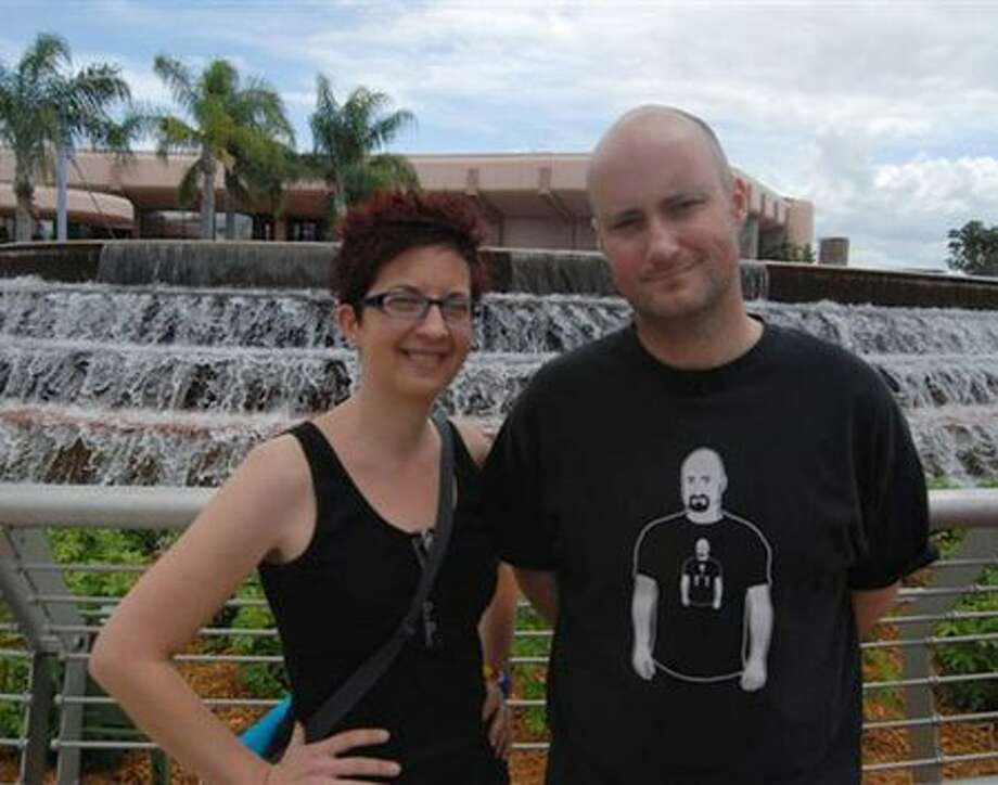 "Missy and Scott Meyer, creators and characters from the web comic ""Basic Instructions."" (Courtesy photo)"