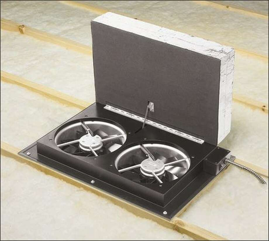 An energy-efficient whole-house fan might feature insulated covers that automatically close when the unit is not running. Air Vent
