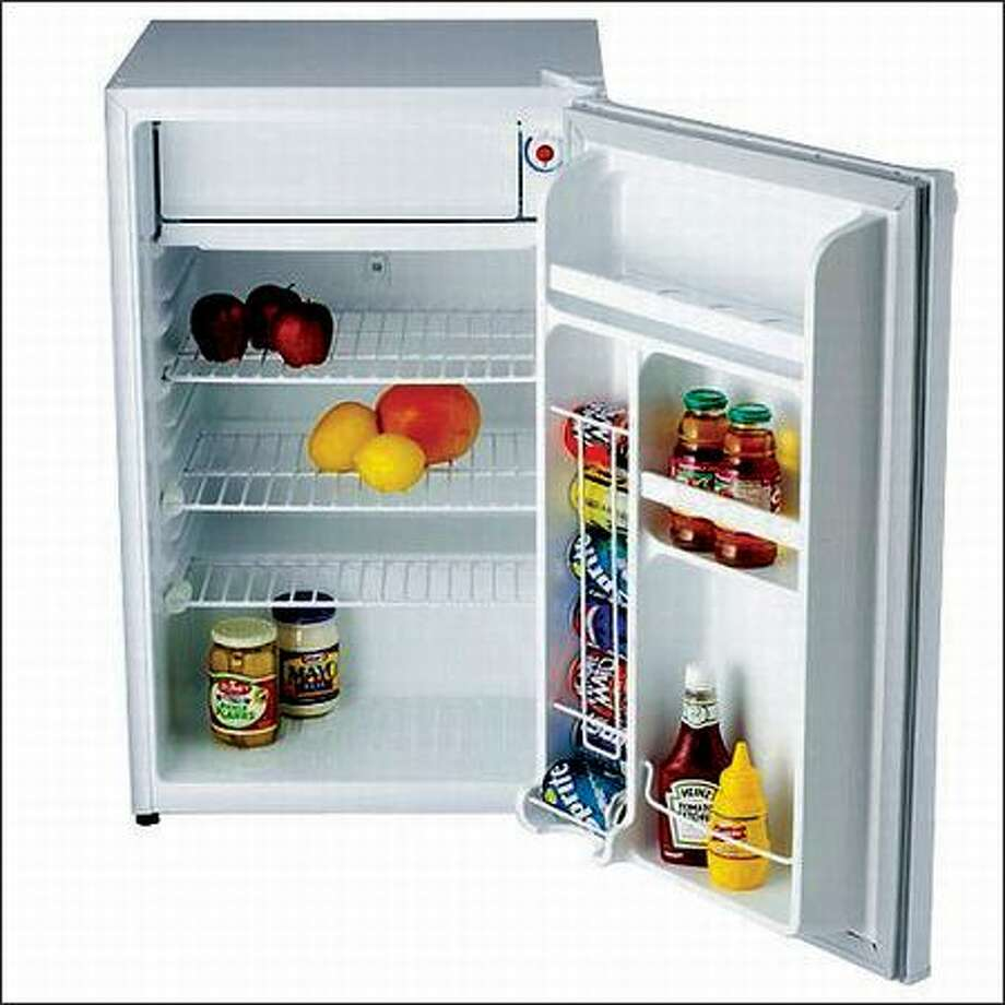 The 4.3-cubic-foot Danby Deluxe compact refrigerator with three shelves is $160 at Target.