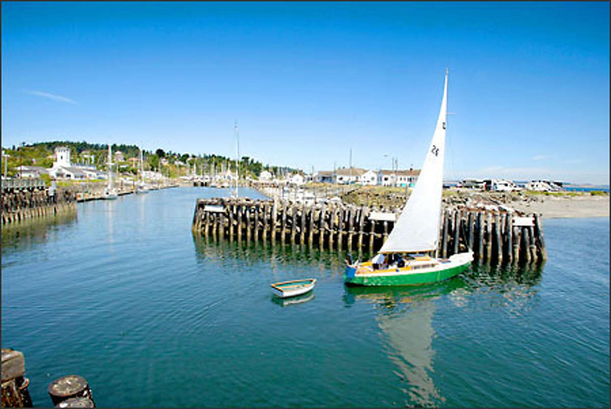 The Northwest Maritime Center will be just south of the Port Hudson Marina, a safe harbor for small craft like this sailboat.