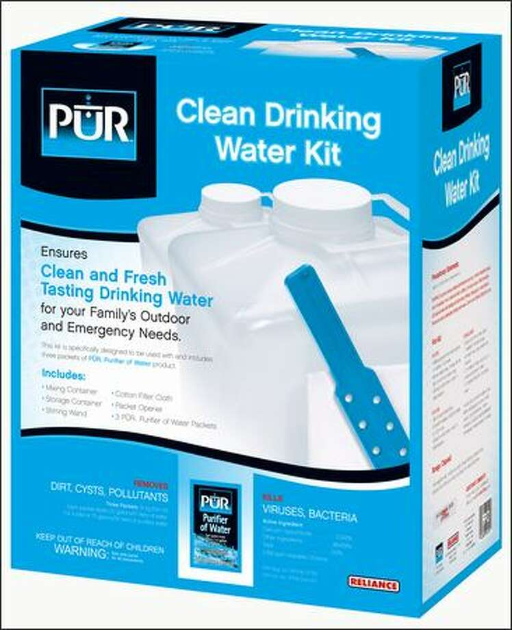 The technology in PUR's Purifier of Water is used in many water treatment plants - and now you can take it on the trail.