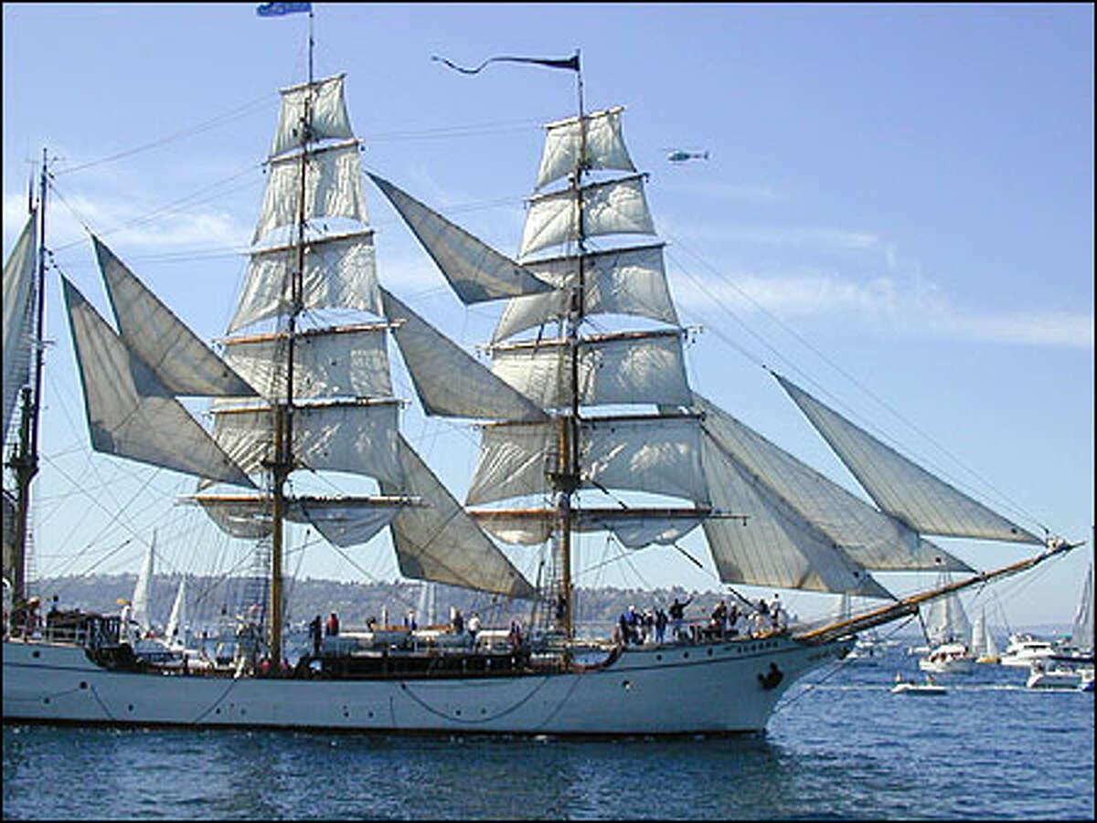 The 'Europa,' a barque.