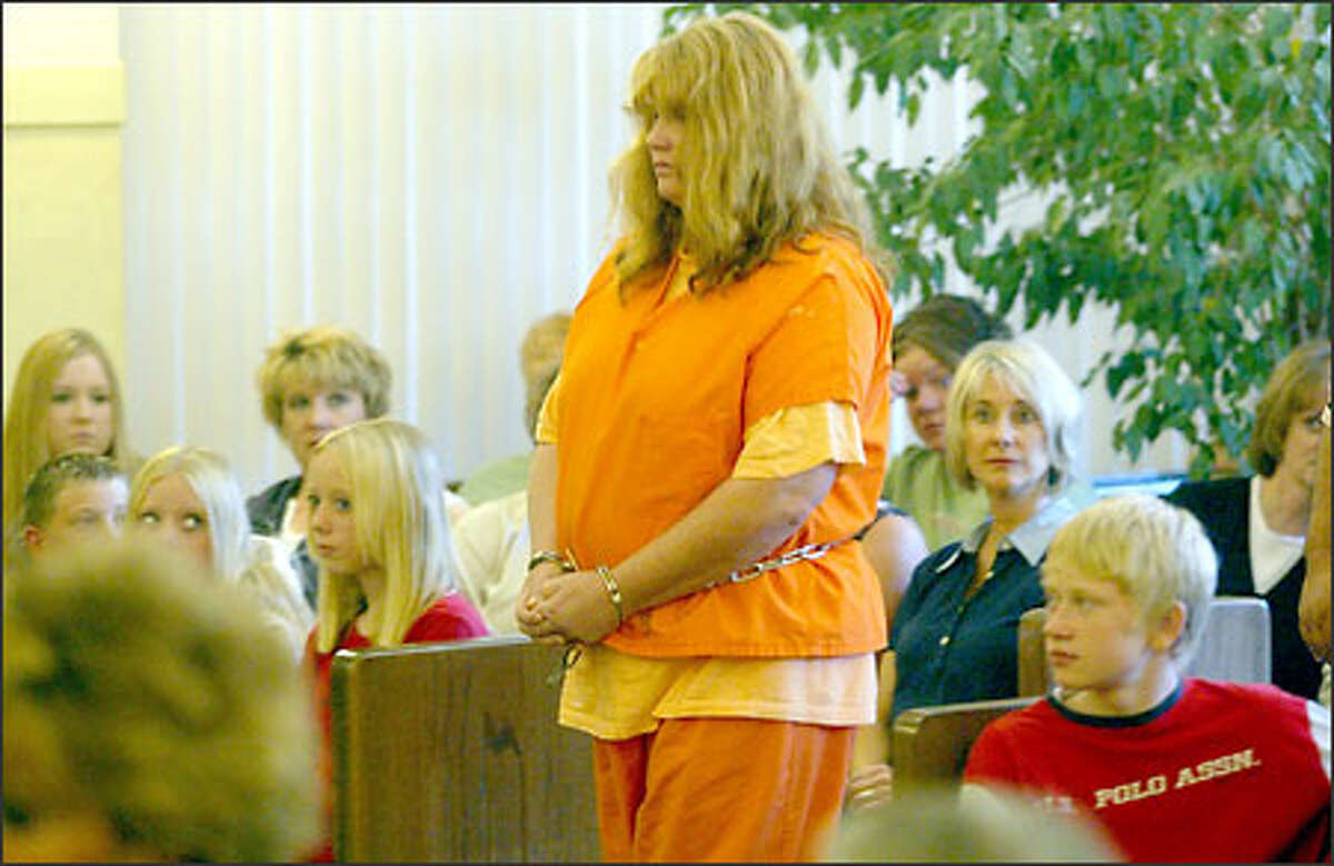 Michelle Knotek pleaded not guilty to first-degree murder charges in the deaths of Kathy Loreno and Ron Woodworth. Knotek appeared in court yesterday.