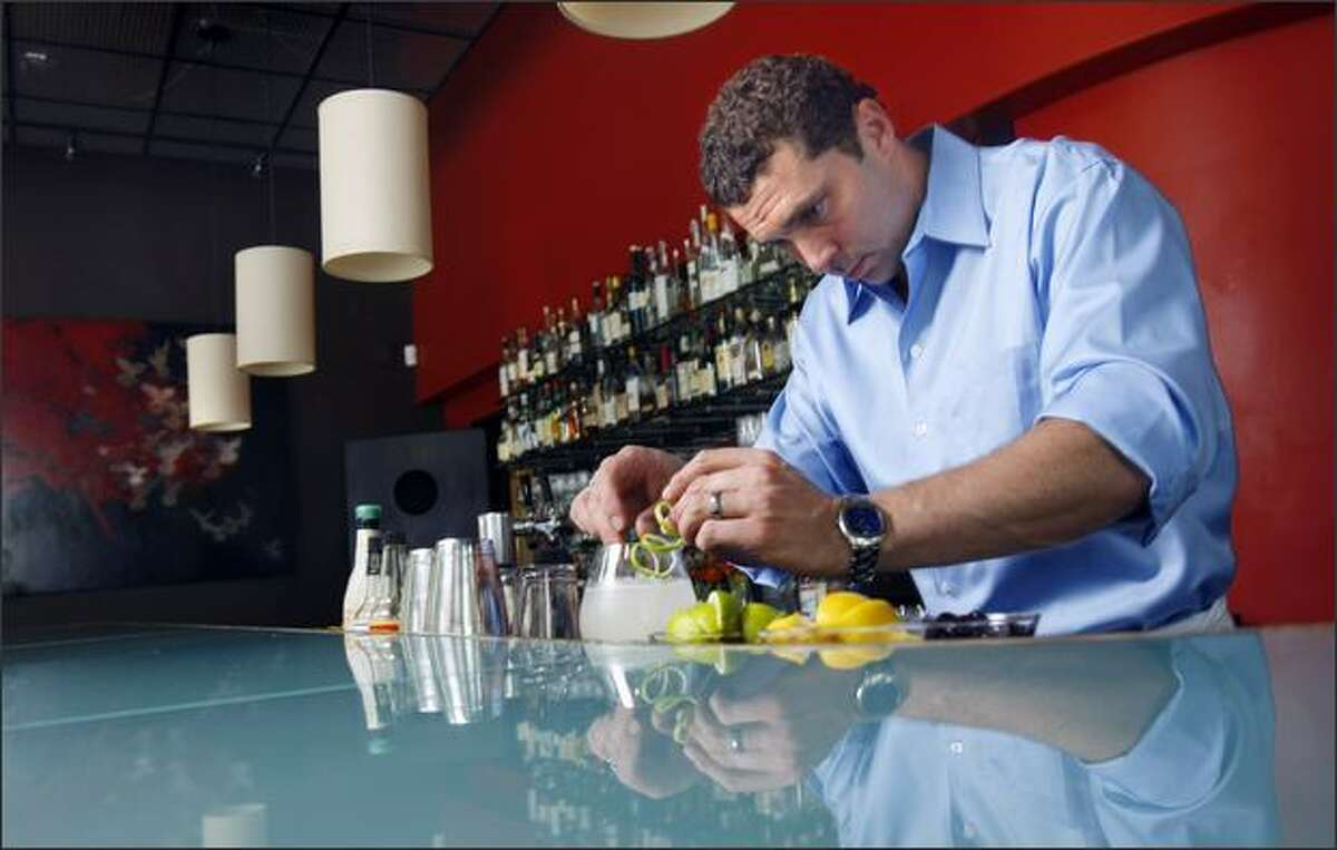 Bartender Keith Waldbauer mixes the Hemingway daiquiri at Union restaurant.