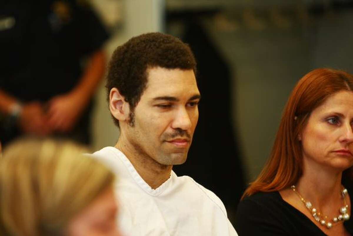 Accused cop killer Christopher Monfort appears in court Aug. 20, 2010.