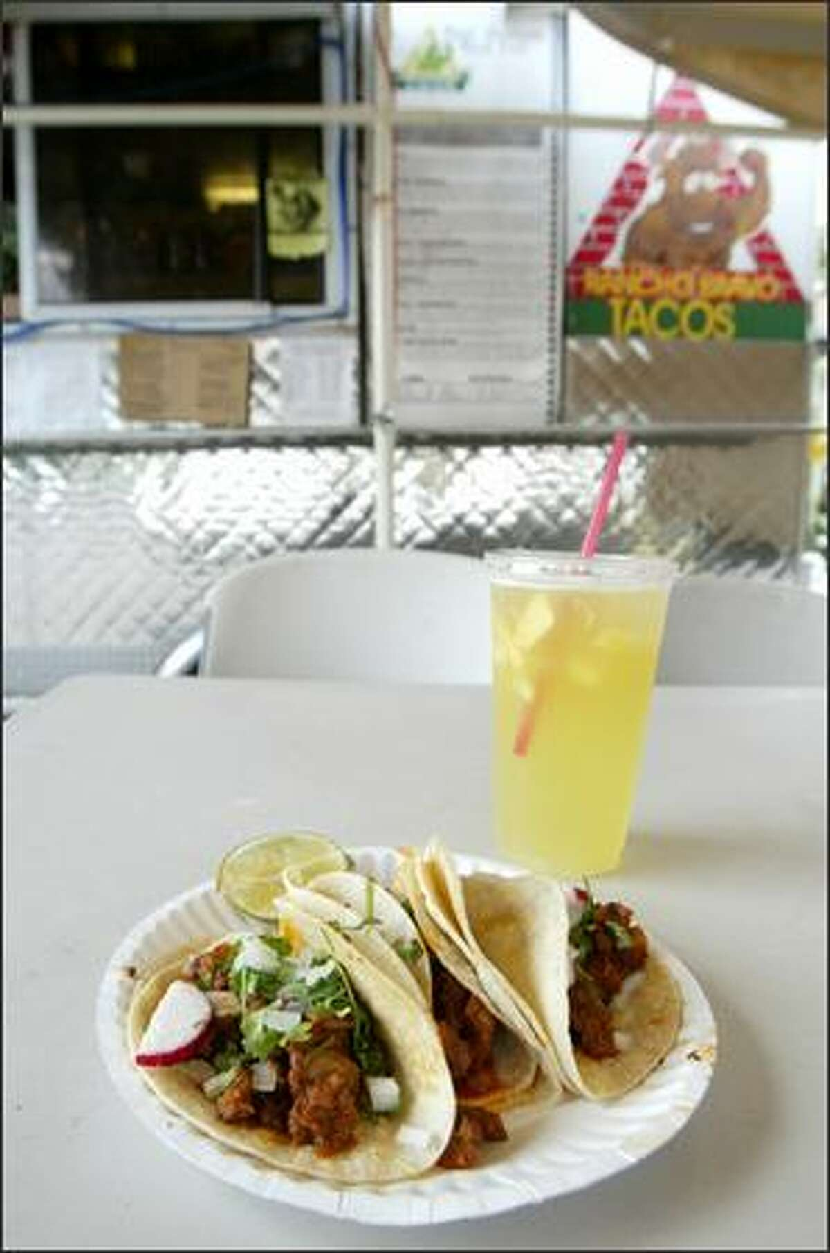 Popular pineapple punch and tacos al pastor, at just $1.75 each, have helped attract a diverse clientele at Rancho Bravo Tacos in Wallingford.