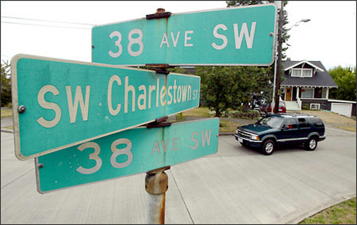 The intersection of Southwest Charlestown Street and two sections of 38th Avenue Southwest show how navigating in Seattle can be a challenge.