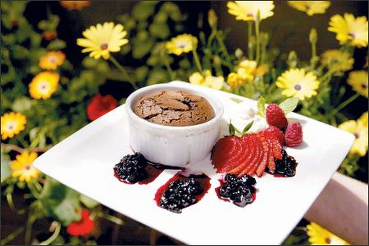 """The """"chocolate muck muck"""" made from Callebaut chocolate at Carmelita, a warhorse since the restaurant's early days, is hard to beat."""