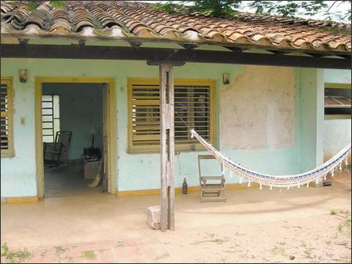 Zac used an abandoned hospital clinic as his living quarters in General Jose Diaz, a small town in Paraguay.