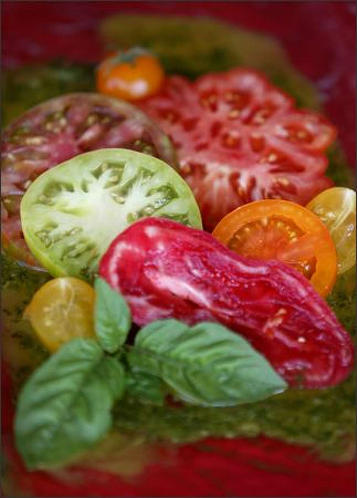 Now is the best time for tomatoes, but make certain they're firm. They pair with most any food, and can be served fresh, grilled, roasted or sauteed.