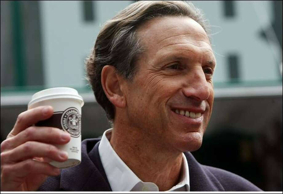 Howard Schultz:  He sold the Sonics for $350 million.  Now he wants to run as an independent for President.  The reaction is Seattle is scathing.  (Mario Tama / Getty Images)